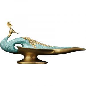 1I904001 Metal Peacock Statue (6)
