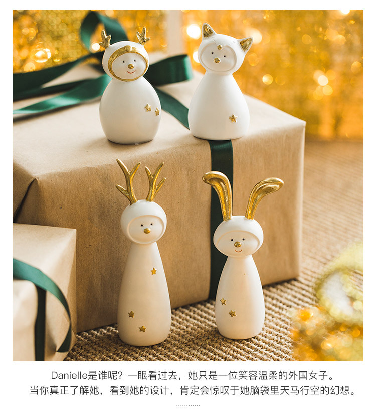 Ceramic Christmas Figurines Sale Detail (2)