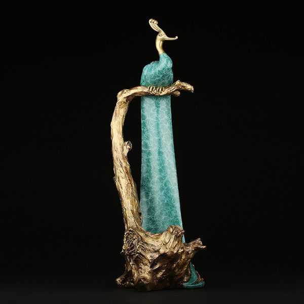 Peacock Statue Online Wine Holder (1)