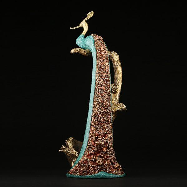 Peacock Statue Online Wine Holder (2)