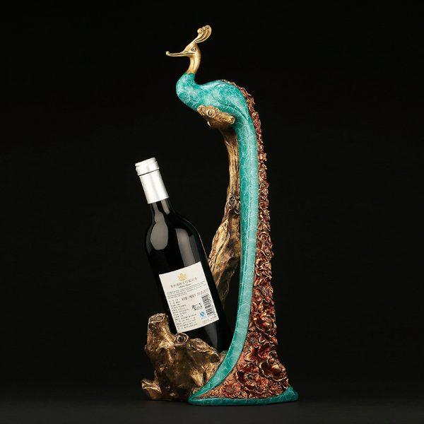 Peacock Statue Online Wine Holder (3)