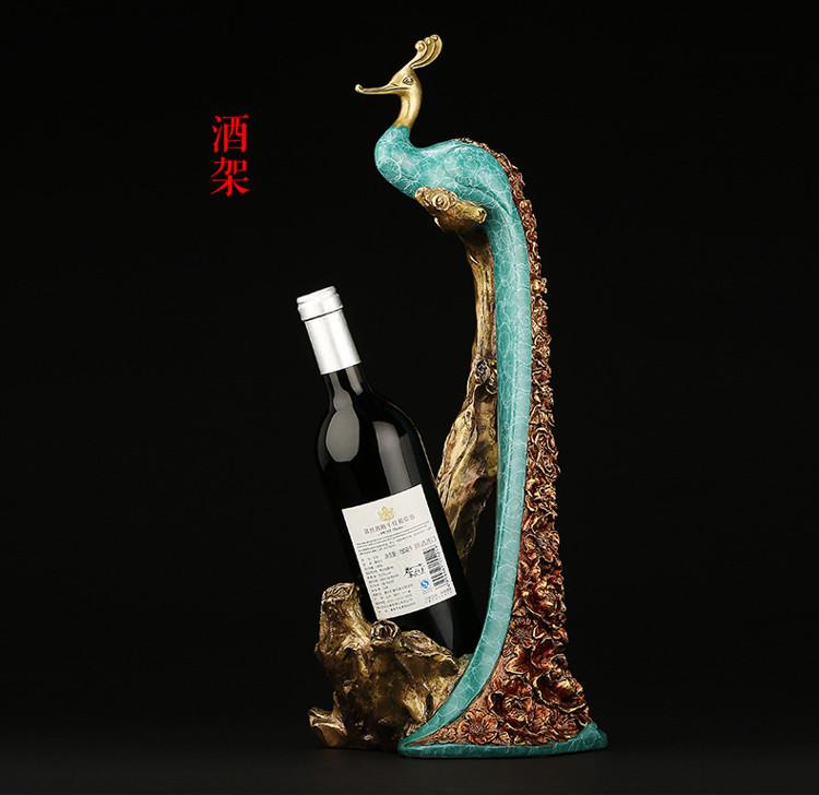 Peacock Statue Online Wine Holder (6)