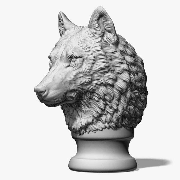 Wolf Head Sculpture Supplier (1)
