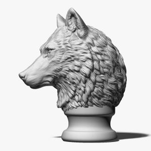 Wolf Head Sculpture Supplier (2)