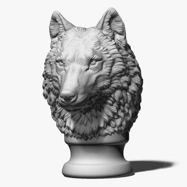 Wolf Head Sculpture Supplier (3)