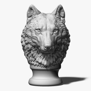 Wolf Head Sculpture Supplier (4)