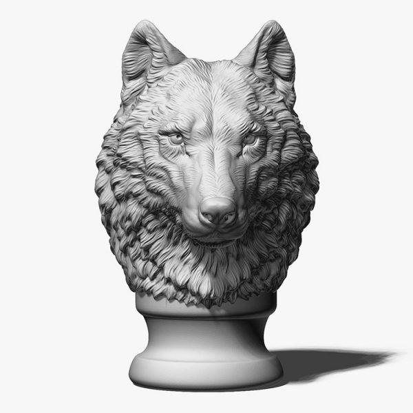 Wolf Head Sculpture Supplier (4)
