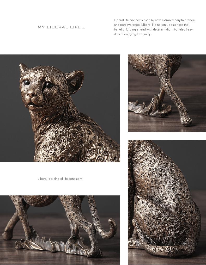 1J602002 Cheetah Figurines Resin Maker (15)