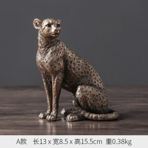1J602002 Cheetah Statue China Maker