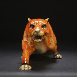 1J602003 Brass Leopard Statue Feng Shui (4)