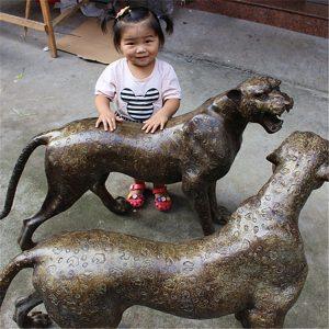 1J604001 Life Size Leopard Statue Bronze (8)