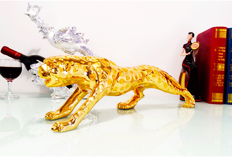 1J604006 Golden Leopard Statue Wholesale (4)