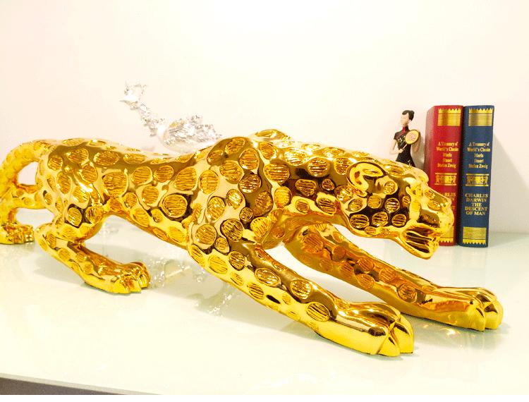 1J604006 Golden Leopard Statue Wholesale (7)