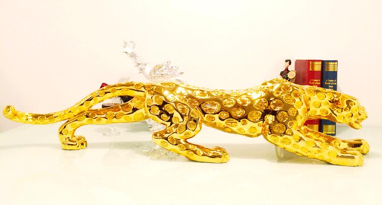 1J604006 Golden Leopard Statue Wholesale (8)