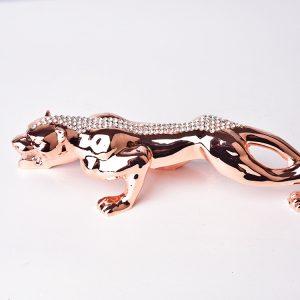 1J604008 Silver Leopard Ornament Online Sale (2)