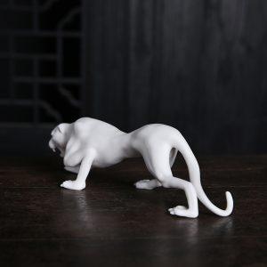 1J605002 Vintage Ceramic Leopard Statuette Sale (2)