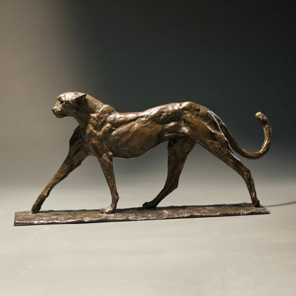 1J608007 metal cheetah sculpture factory (1)