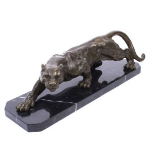 1J608016 Black Panther Sculpture Hotel Decor (1)