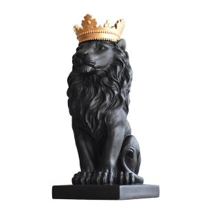 1J727001 crown lion statue