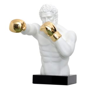 1J807001 Boxer Statue White Resin Sale (8)