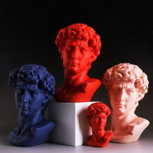 1J907001 David Bust Head Statue (1)