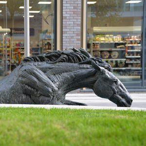 1JA13004 vintage bronze horse statue maker (1)