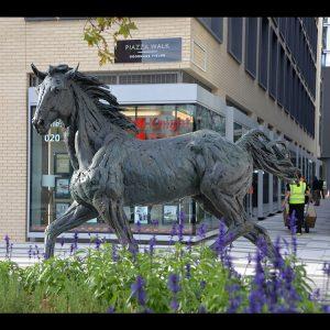 1JA13005 bronze horse statue life size (1)