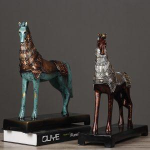 1JA26013 war horse statue home decor (4)