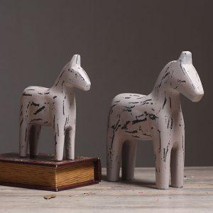 1JA26017 wooden dala horse sale (1)