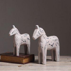 1JA26017 wooden dala horse sale (2)