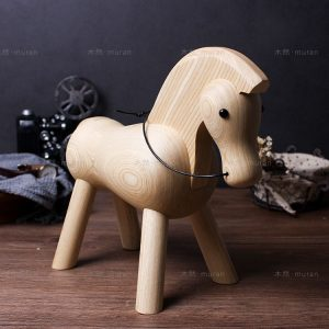 1JA28001-2 Wooden Horse Figurine China Factory (13)
