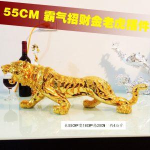 golden tiger statue 55cm