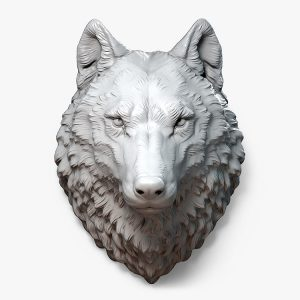 1I711011 wolf head statue wall decoration (1)