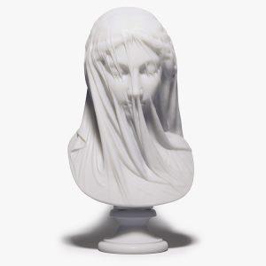 1I715005 Veiled Virgin Statue Bust Resin (1)