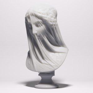 1I715005 Veiled Virgin Statue Bust Resin (2)