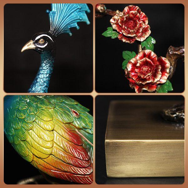 1I904025 peacock statue home goods (2)