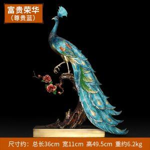 1I904025 peacock statue home goods (3)