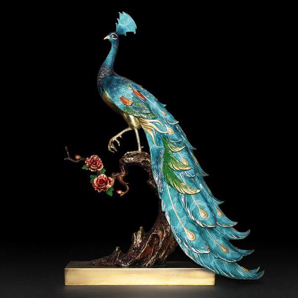 1I904025 peacock statue home goods (7)