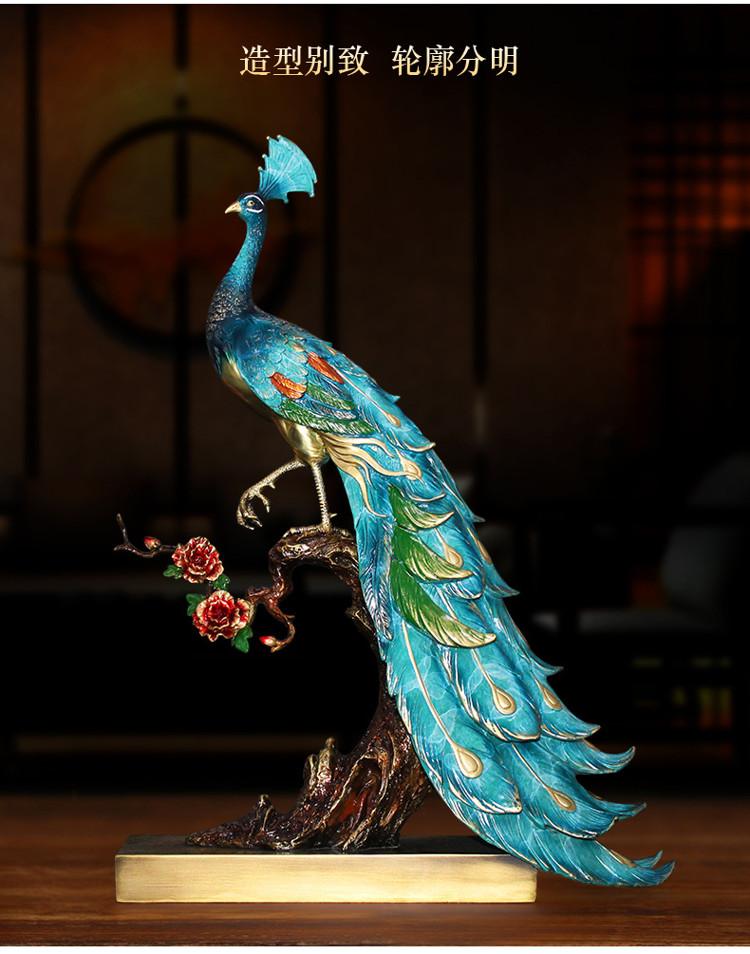 1I904025 peacock statue home goods detail (2)