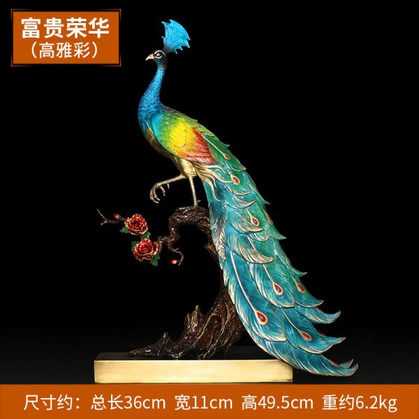 1I904025 peacock statue indoor (4)