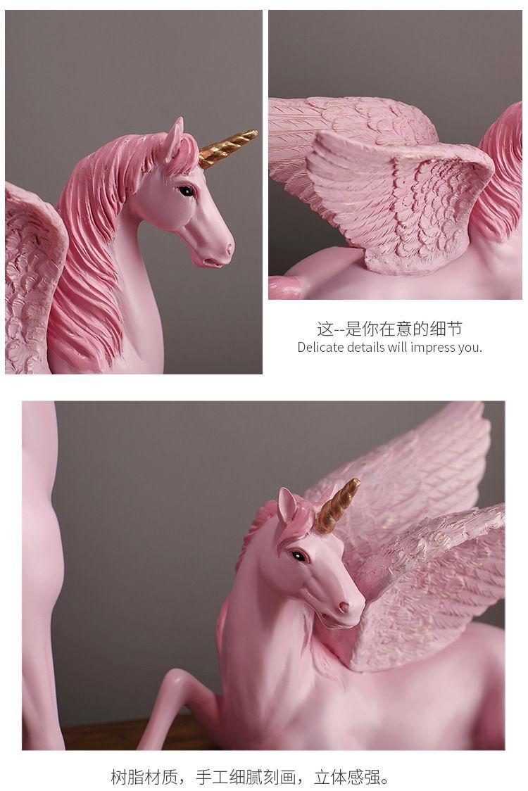 1JA28004 Unicorn Statues Figurines Table Decoration (10)