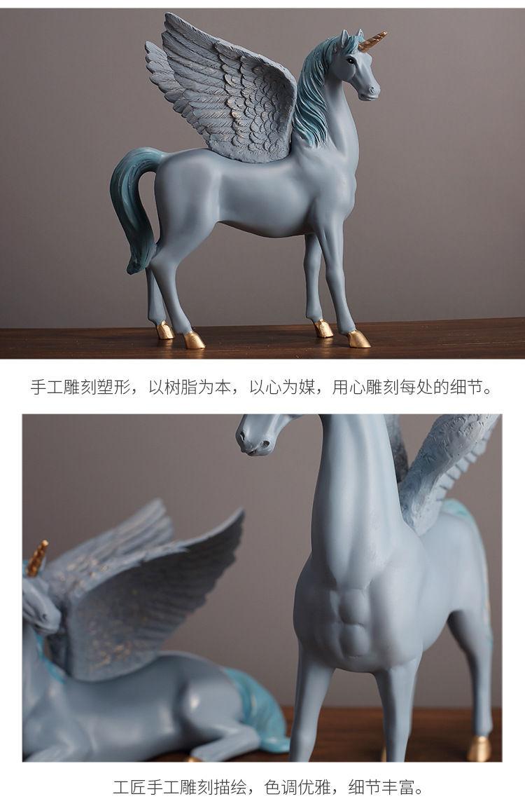 1JA28004 Unicorn Statues Figurines Table Decoration (11)