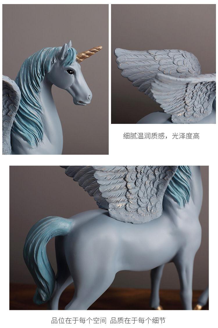 1JA28004 Unicorn Statues Figurines Table Decoration (12)