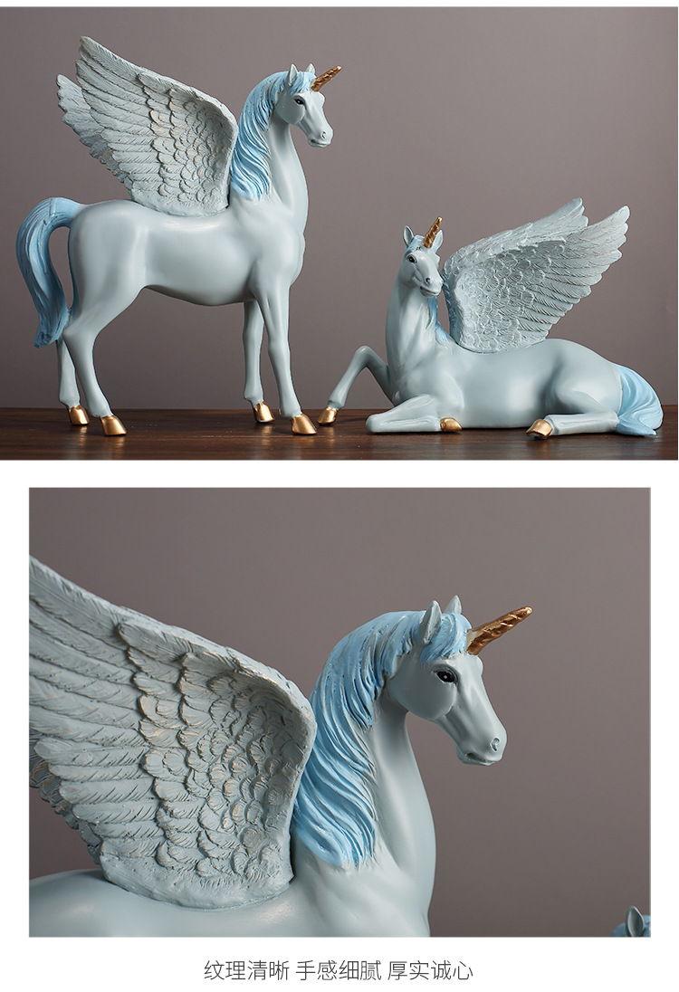 1JA28004 Unicorn Statues Figurines Table Decoration (13)
