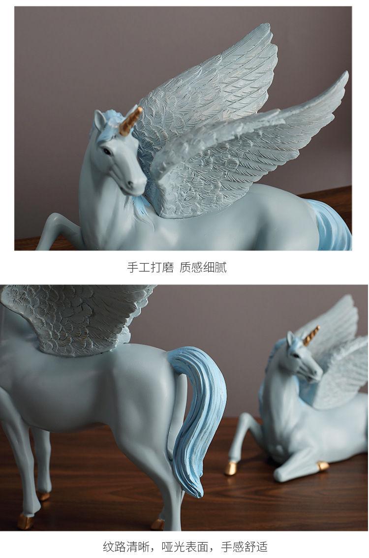 1JA28004 Unicorn Statues Figurines Table Decoration (14)