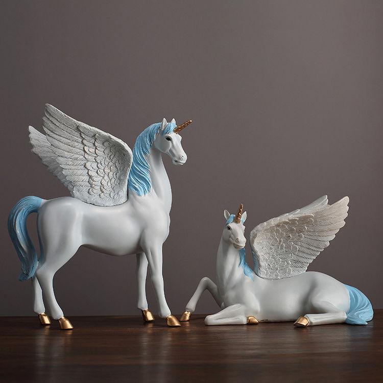 1JA28004 Unicorn Statues Figurines Table Decoration (15)
