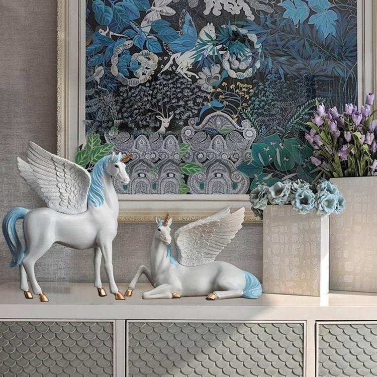1JA28004 Unicorn Statues Figurines Table Decoration (16)