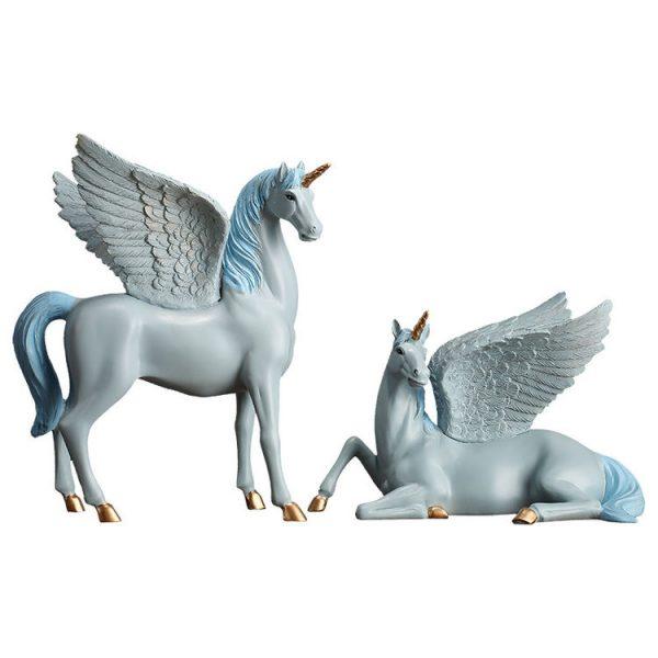 1JA28004 Unicorn Statues Figurines Table Decoration (19)