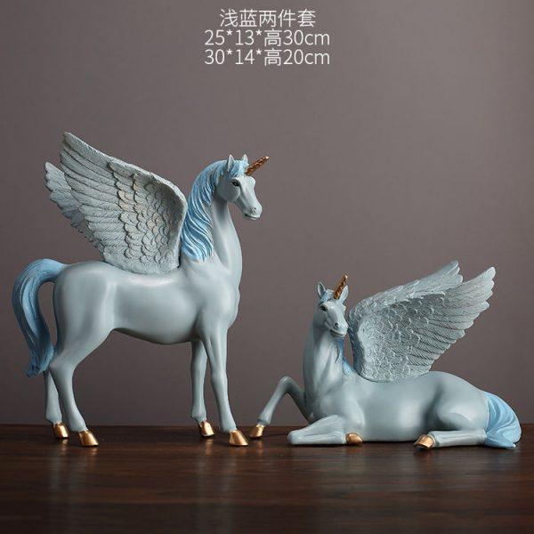 1JA28004 Unicorn Statues Figurines Table Decoration (20)