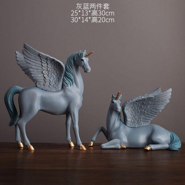1JA28004 Unicorn Statues Figurines Table Decoration (21)